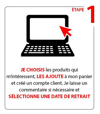 Etape 1 : Click & Collect